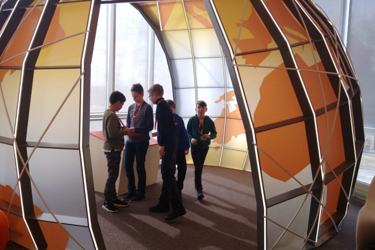 """5.e klases mācību ekskursija uz ''Swedbank Finanšu laboratoriju."""""""