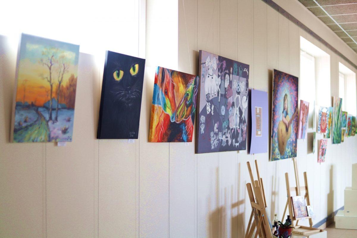 Skolotāju vizuālās mākslas darbu izstāde