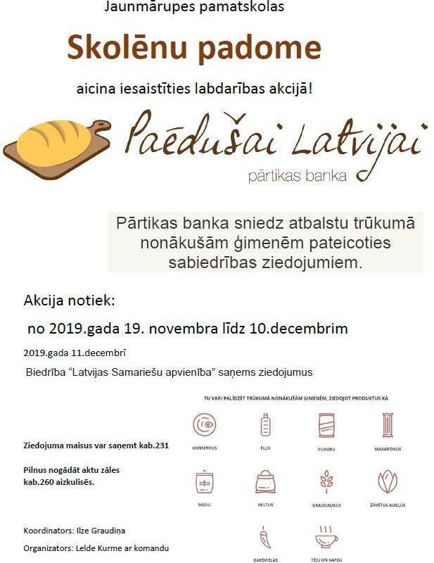 """Akcija """"Paēdušai Latvijai"""""""