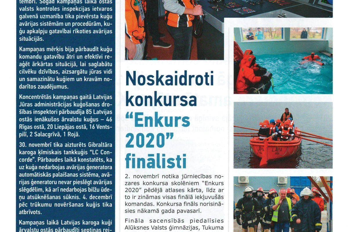 """Noskaidroti konkursa """"Enkurs 2020"""" finālisti"""