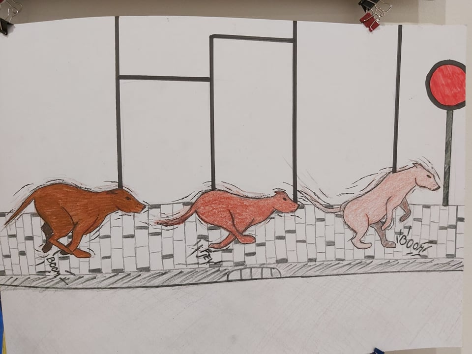Vizuālās mākslas izstāde skolā