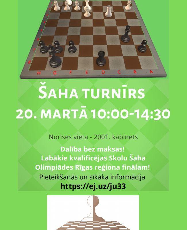 Piesakies šaha turnīram