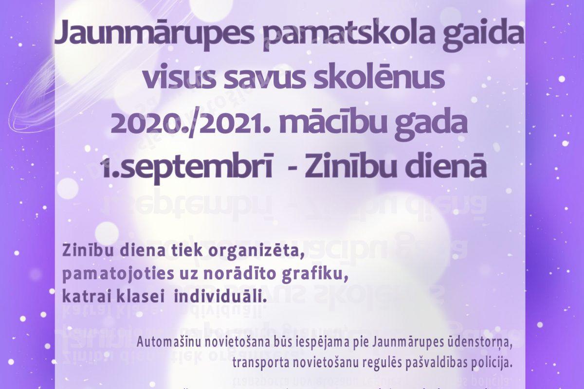 1. septembris – Zinību diena 2020