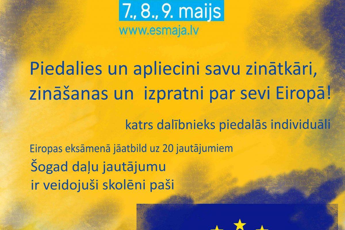 Jau nākamnedēļ – Eiropas eksāmens 2021