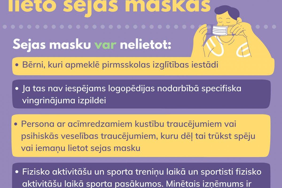 Sejas maskas izglītības iestādē