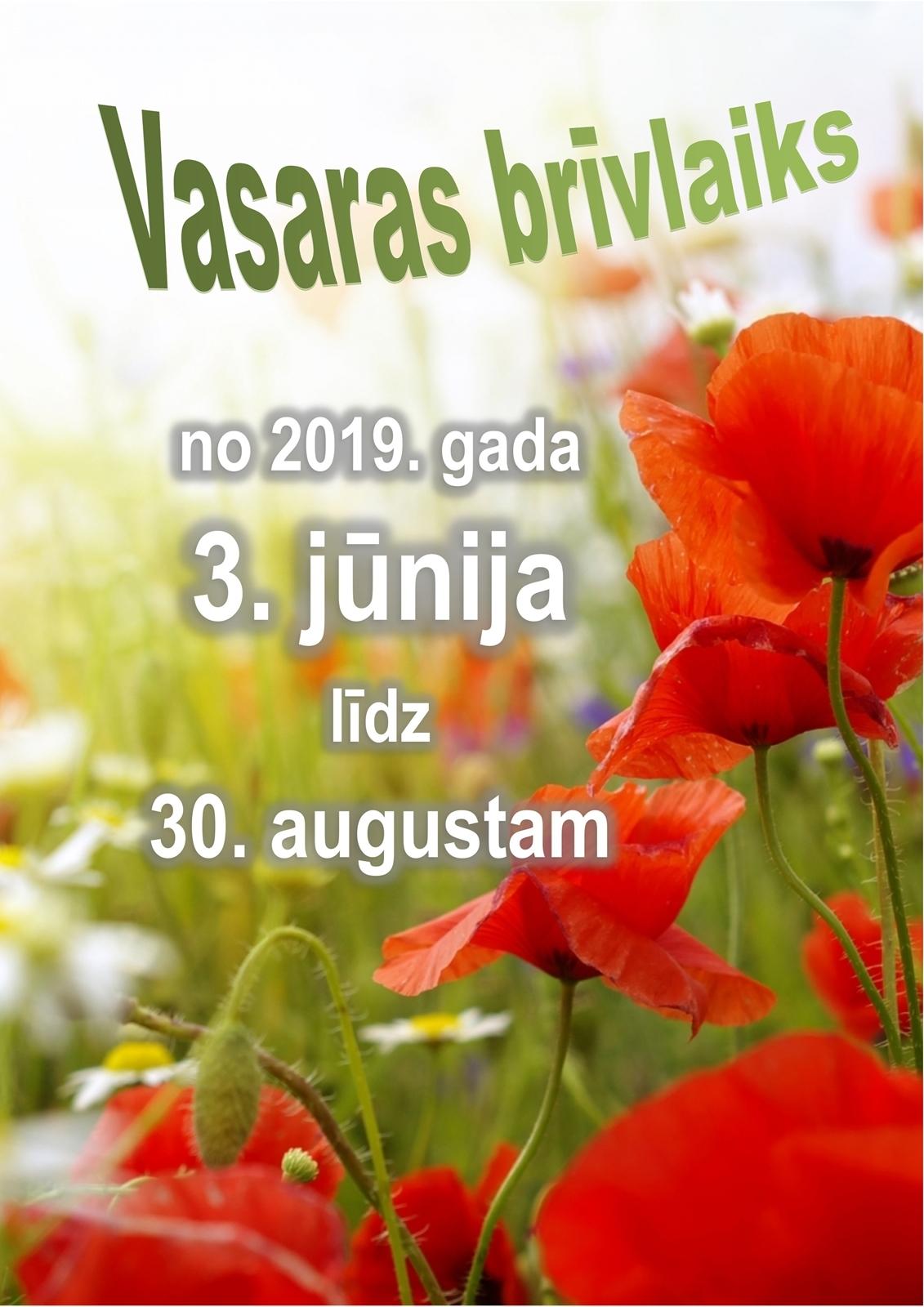 Vasaras brīvlaiks 2019